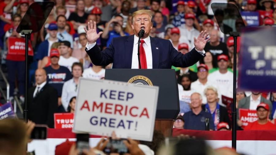 Trump ironiza sobre su ida de Estados Unidos si Biden gana elecciones